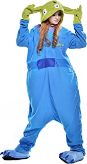 NEWCOSPLAY Halloween Unisex Adult Pajamas Cosplay Costumes (M, Alien)