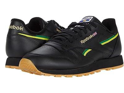 Reebok Lifestyle Classic Leather (Black/Basil Green/Hero Yellow) Men