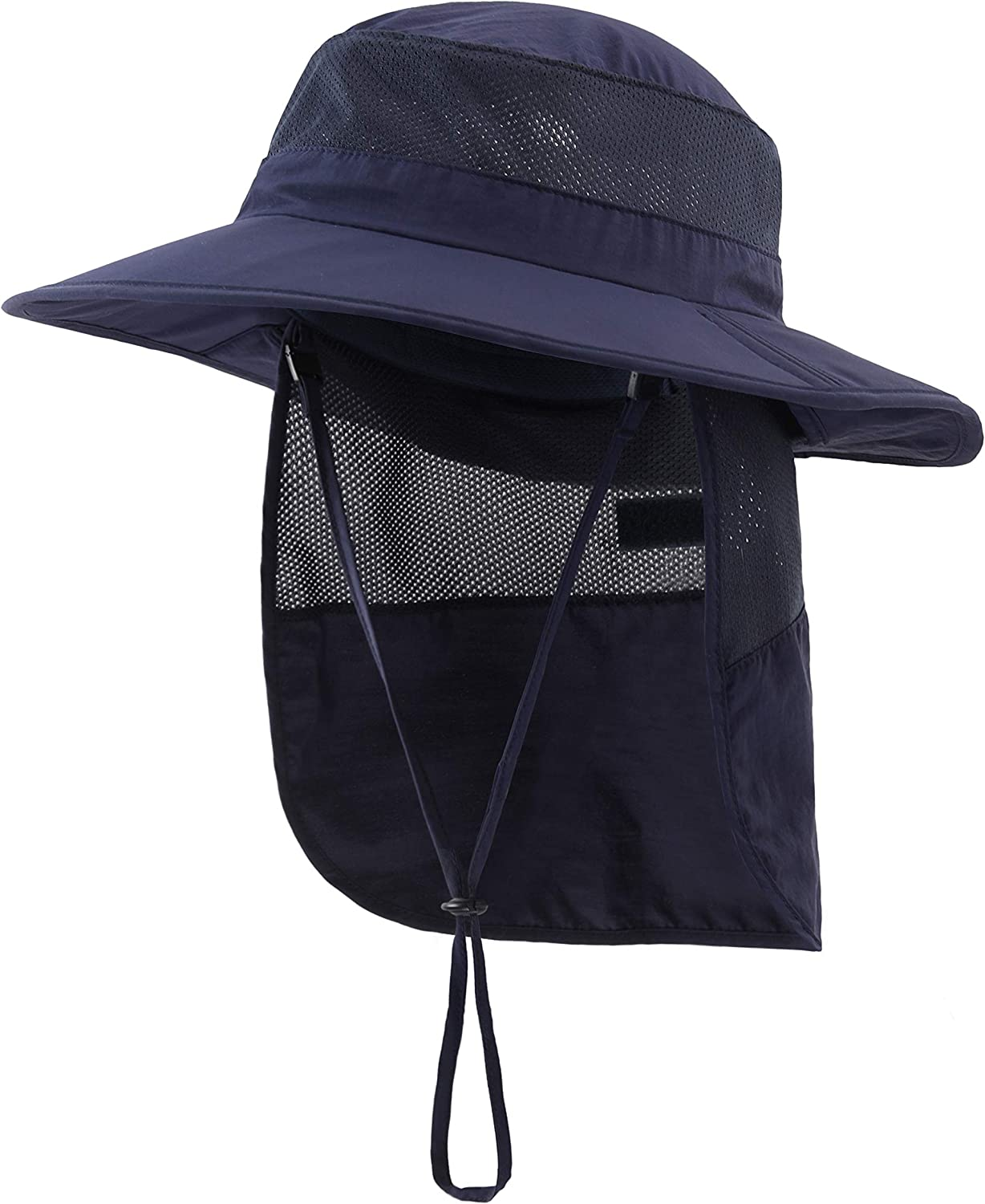 Home Prefer Outdoor UPF50+ Kids Sun Hat Wide Brim Fishing Hat with Neck Flap