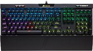 Corsair K70 RGB MK.2 - Teclado (Alámbrico, USB, Interruptor mecánico, QWERTZ, LED RGB, Negro)