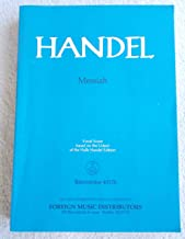Handel:Messiah (vocal Score Based on the Urtext of the Halle Handel Edition)