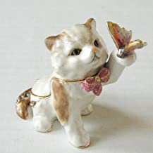 Bejeweled Collection Department 56 Kitten with Butterfly Enamel Jeweled Box