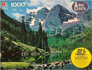 Vintage Big Ben White River National Forest Colorado 1000 Piece Puzzle by Milton Bradley