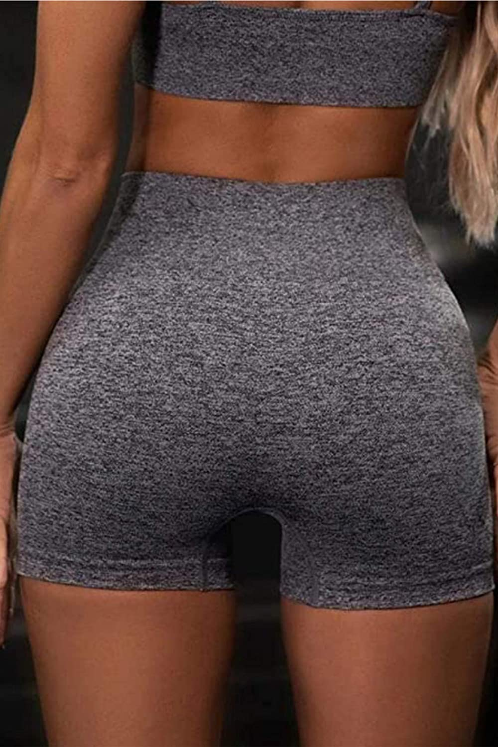Workout Sets 2 Piece Outfits High Waisted Yoga Shorts Leggings Sports Crop Top Gym Tracksuit