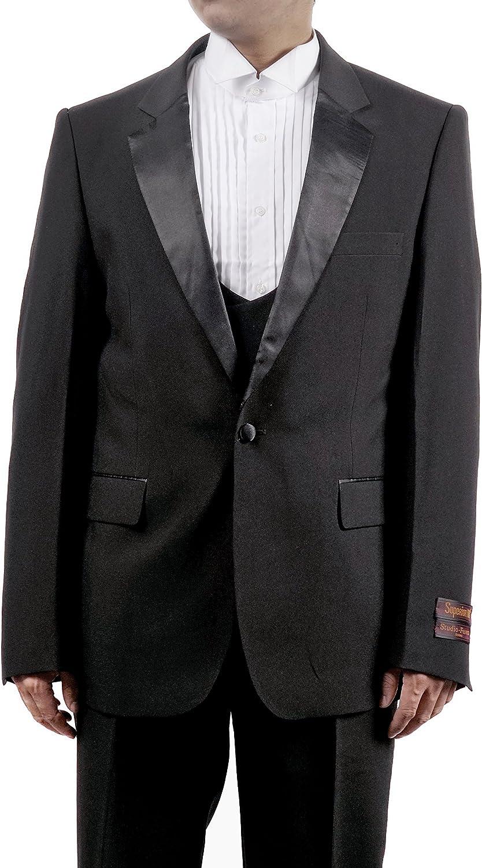 New Era Factory Outlet Mens 3 Pc Black Tuxedo Includes Tuxedo Jacket, Pants and Vest