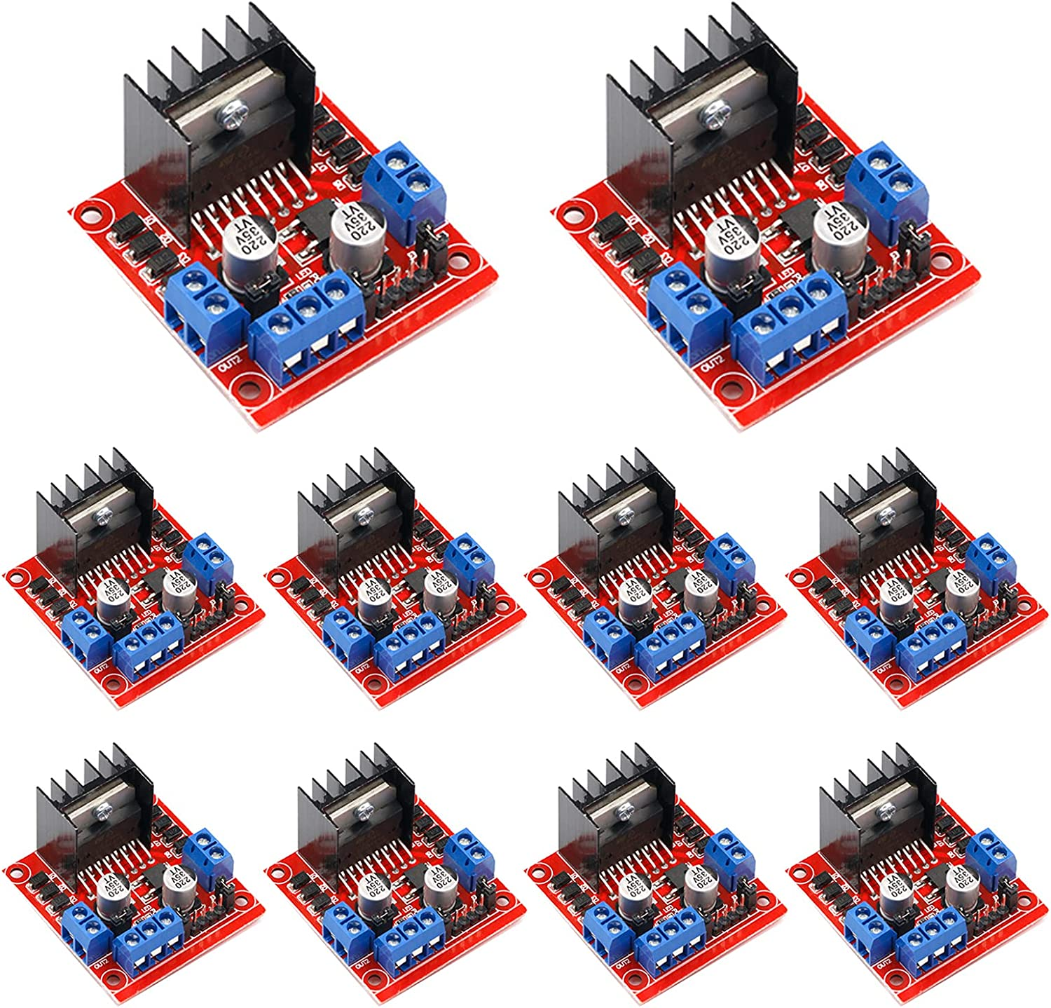 10Pack L298N Motor Drive 2021 autumn Popular brand in the world and winter new Controller Dual DC Robot Board H-Bridge