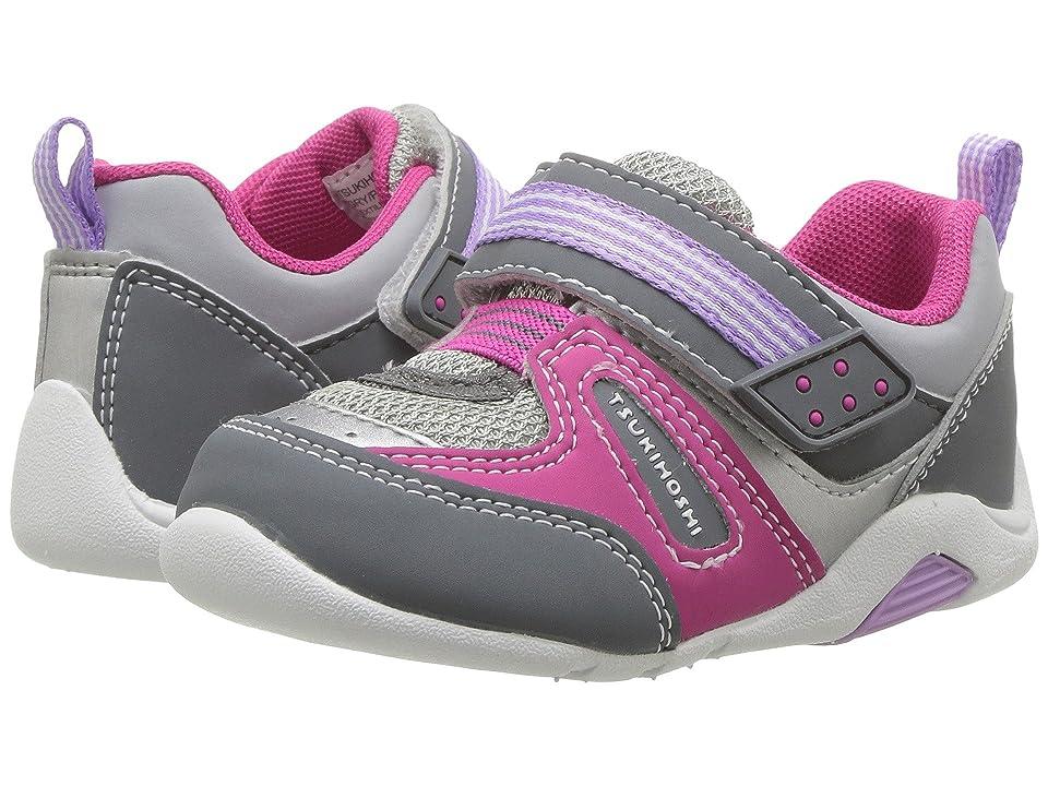Tsukihoshi Kids Neko (Toddler) (Gray/Purple) Girls Shoes