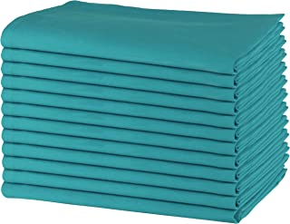 SweetNeedle - Paquet de 12 - Serviettes de table surdimensionnées 100% coton 50 CM x 50 CM (20 po x 20 po), Sarcelle - Tis...