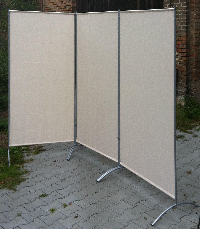 Biombo de 264 x 180 cm 3 teilig panel separador de pantalla de ajuste de la pared divisoria de tela: Amazon.es: Bricolaje y herramientas