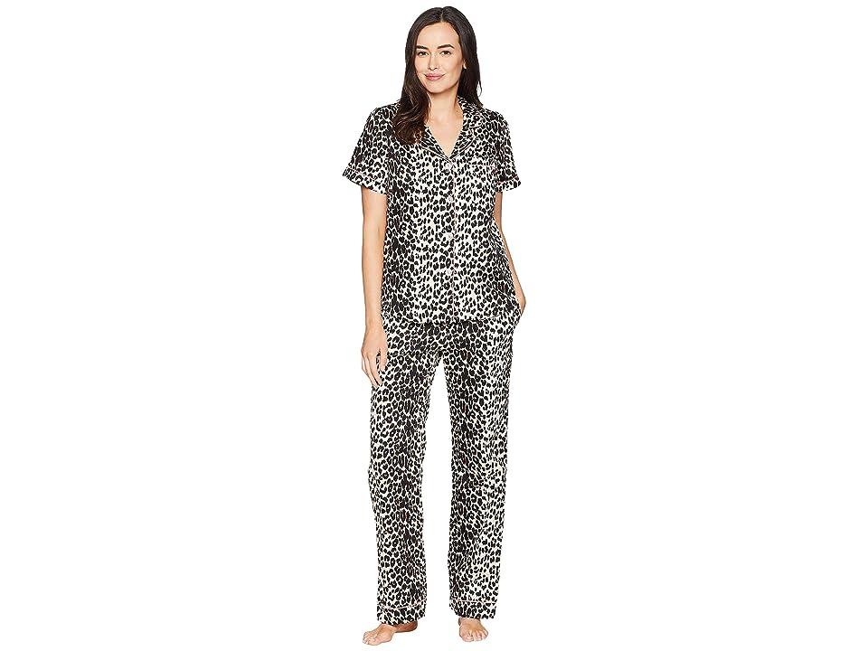 BedHead Short Sleeve Classic Pajama Set (Wild Leopard) Women