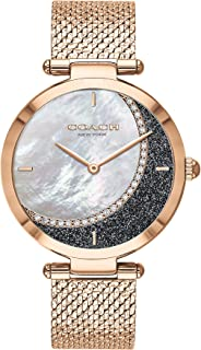 COACH PARK WOMEN's WHITE MOTHER OF PEARL & BLUE DIAL WATCH - 14503766