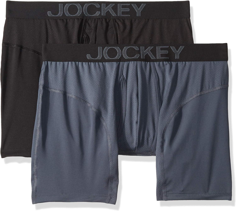 Jockey Men's Underwear RapidCool Boxer Brief - 2 Pack