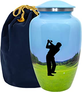 Trupoint Memorials The 19th Hole Mens Golf Adult Large Urn for Human Ashes - A Beautiful Final Resting Place for The Man W...