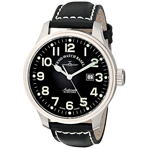 Zeno Mens 8554-A1 Pilot Black Strap Automatic Watch