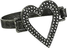 Open Heart Design Bangle Bracelet