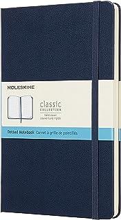 Moleskine klasyczny notatnik z kropkami, twarda okładka i elastyczny dziennik zamykania, kolor szafirowy niebieski, rozmia...