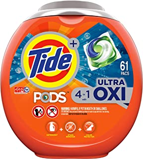 Sponsored Ad - Tide PODS 4 in 1 HE Turbo Laundry Detergent , 61 Pacs