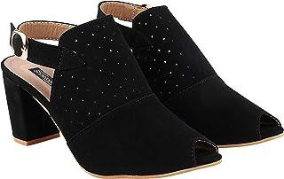 Do Bhai Women Block Heel Pep Toe Ankle Strep Fashion Sandal(1525)