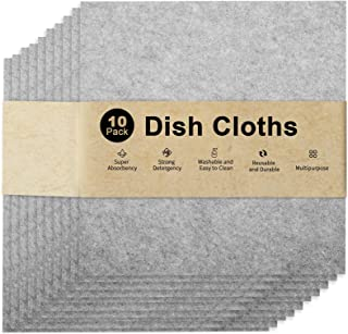 Highly Absorbent Soft Microfiber & Plant Fiber Kitchen Towels,Wash Cloths,Dish Towels for Kitchen & Table Linens,Cleaning ...