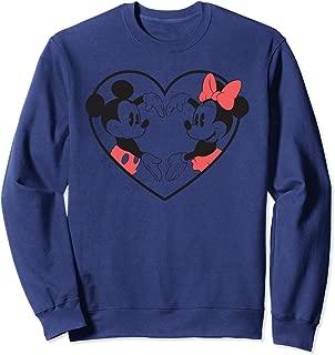 Mickey And Minnie Heart Hands Pullover Sweatshirt