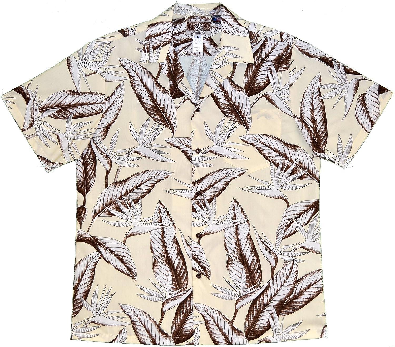 RJC Mens Achromatic Bird of Paradise Peached Cotton Blend Shirt
