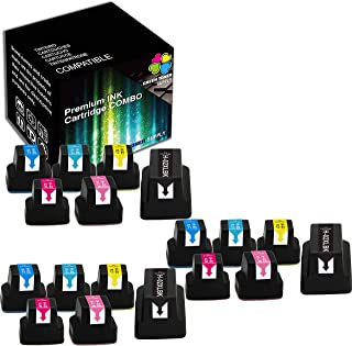 (18 Pack, 3 x Each Colors) Green Toner Supply Compatible with Ink Cartridge HP 02 hp02 Worked in PhotoSmart C6150 C8150 D6...