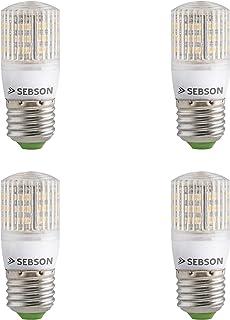 SEBSON® 4 x E27 3W LED (Equivale a 25W - Blanco cálido - 240lm - SMD LED - 280º Haz de luz - 230V AC)