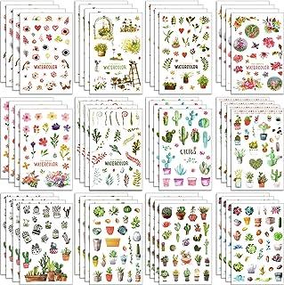 48 ورقة من Chuangdi ملصقات الصبار ملصق زهرة ديكور ملصقات مجلة ملصقات لمستلزمات الحفلات والعطلات