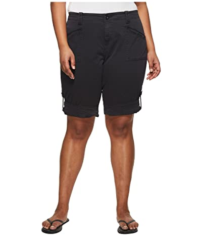 Aventura Clothing Plus Size Addie V2 Shorts (Black) Women