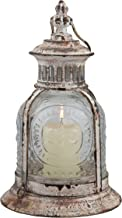 Stonebriar Antique White Metal Candle Lantern, Decoration for Birthday Parties, a Rustic Wedding Centerpiece, or Create a ...