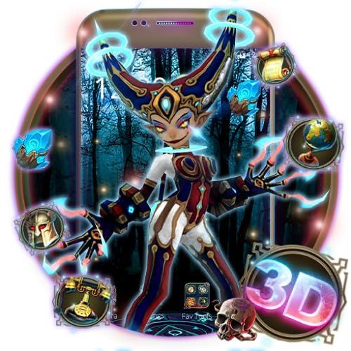 Neon Joker Harley Quinn 3D Theme