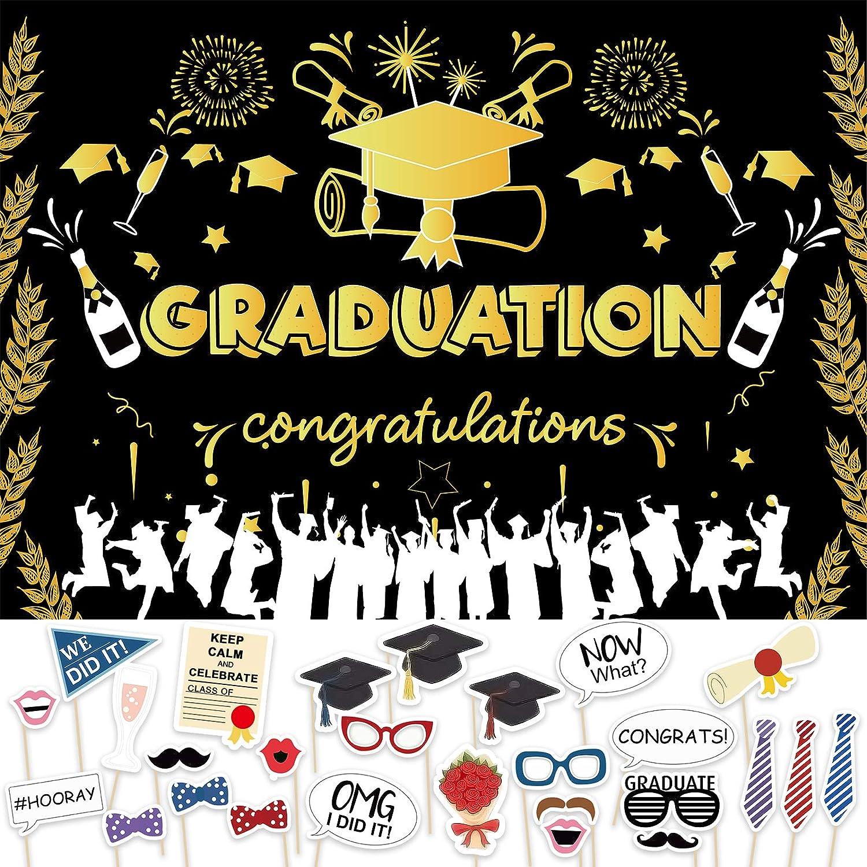San Francisco Mall 2021 Graduation Banner Party Supplies Photo Backdrop Ranking TOP1 G Congrats
