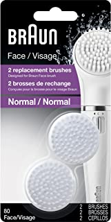 Braun Face 80 - Pack of 2 Brush Refills for Braun Mini-Facial Electric Hair Removal Epilator with Facial Cleansing Brush for Women