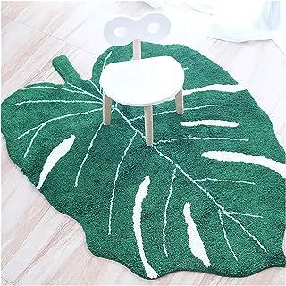 WWWL Mattor babymatta bomull babyblad lekmatta aktivitet lekgym lekmatta matta dekoration barnrum tipi tält matta (färg: G...