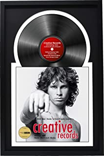 """Creative Picture Frames 16"""" x 24"""" Jukebox Record Frame and Double Black-White Matting Displays Album Cover with 33 Vinyl LP"""