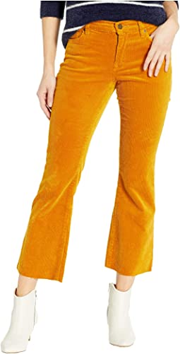 The Varick Corduroy Kick Flare Pants in Marigold