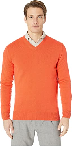 Cashmere Tipped V-Neck Sweater