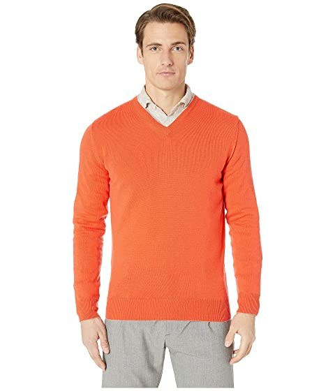 eleventy Cashmere Tipped V-Neck Sweater