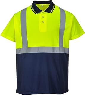 Standsafe Réfléchissant Hi Vis travail Polo à manches longues tshirt jaune