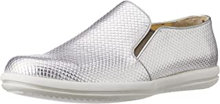 CG Shoe Men's Silver Leather Sneakers - 6 UK (CG-TK 33)