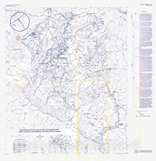 Historic Pictoric Map : Preliminary geologic map of The Savannah River site, Aiken, Allendale, and Barnwell Counties, South Carolina, 1994 Cartography Wall Art : 24in x 24in