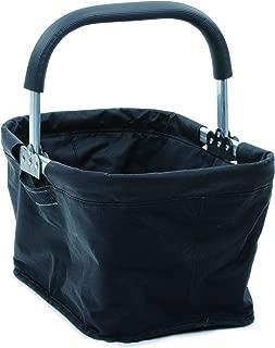 RSVP Fabric Collapsible Market Basket, Black