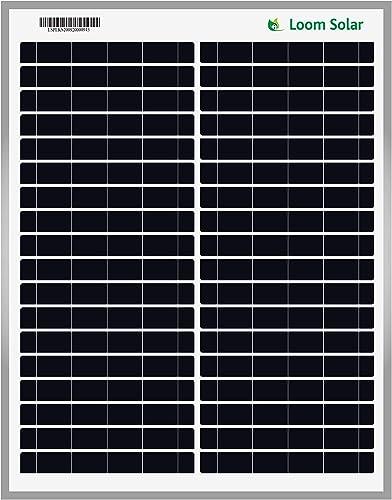 Loom Solar 20 Watt - 12 Volt Solar Panel for Home Lighting & Small Battery Charging