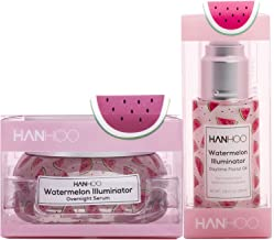 Hanhoo - Watermelon Illuminator Set | Daytime Facial Oil and Overnight Serum - Skincare for a Glowing Complexion - For All Skin Types (1 of Each)