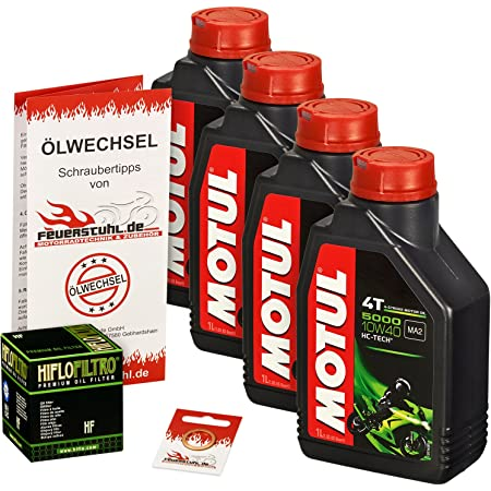 Motul 10w 40 Öl Hiflo Ölfilter Für Yamaha Xv 750 Virago 92 97 4fy 4pw Ölwechselset Inkl Motoröl Filter Dichtring Auto