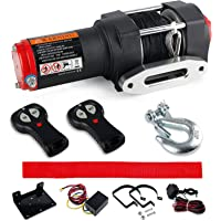 Deals on VZCY 3000 lb. 12V Synthetic Rope Electric Winch Kit