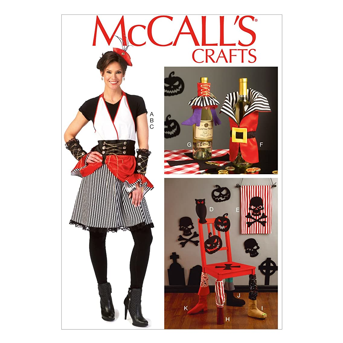 McCall Pattern Company M7005 Apron, Gauntlets, Hat, Silhouettes, Banner, Bottle Decorations, Chair Leg Decorations, Size MIS in One Envelope