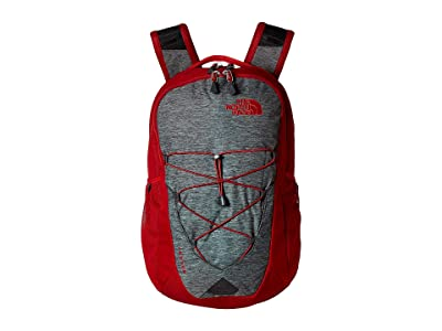 The North Face Jester Backpack (TNF Dark Grey Heather/Cardinal Red) Backpack Bags