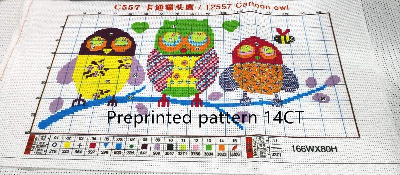 Tigre CaptainCrafts Kit de broderie au point de croix pr/é-imprim/é pour d/ébutants et adultes poin/çon 11 CT