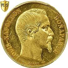1852 A Napoléon III 20 Francs PCGS MS62